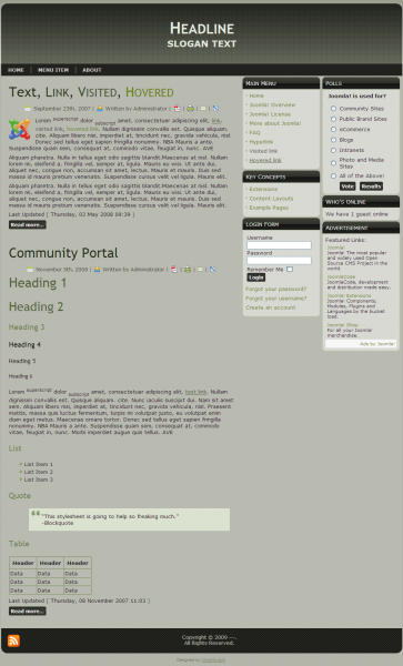 Free Joomla, Blogger, Wordpress, Drupal and DotNetNuke for download
