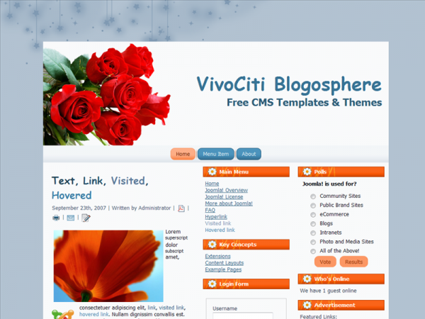 For Joomla 1.6.x, Fixed Width, Valid XHTML, Valid CSS