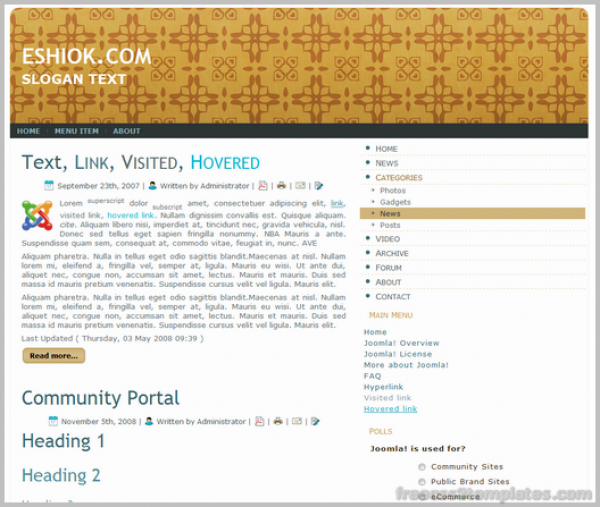 Best View for Joomla 1.5.1.x, Fixed width: 1000px, XHTML 1.0 Transitional, Valid CSS
