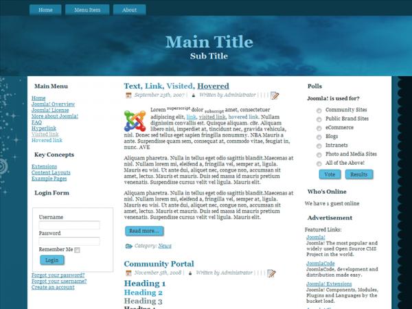 For Joomla 1.6.x, Fluid, Valid XHTML, Valid CSS