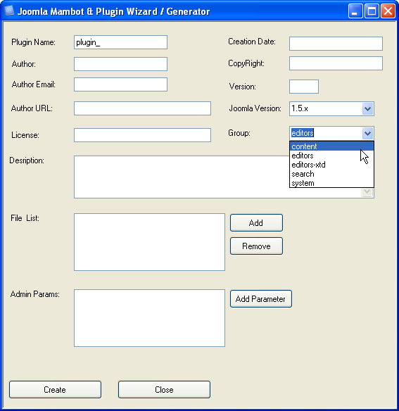 Using Joomla Plugin Wizard to speed up your plugins development screenshots 1